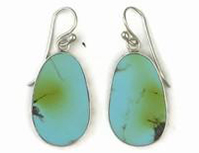 earrings turquoise slabs